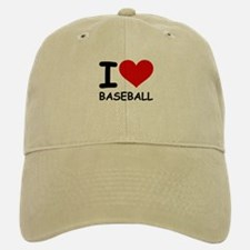 I LOVE BASEBALL Baseball Baseball Cap