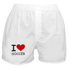 I LOVE SOCCER Boxer Shorts