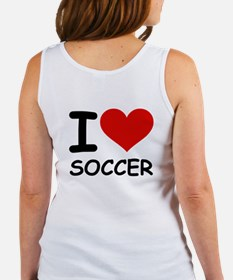 I LOVE SOCCER Women's Tank Top