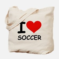 I LOVE SOCCER Tote Bag