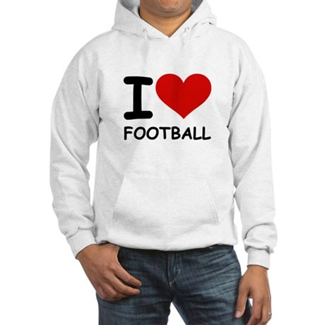 I LOVE FOOTBALL Hooded Sweatshirt