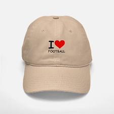 I LOVE FOOTBALL Baseball Baseball Cap