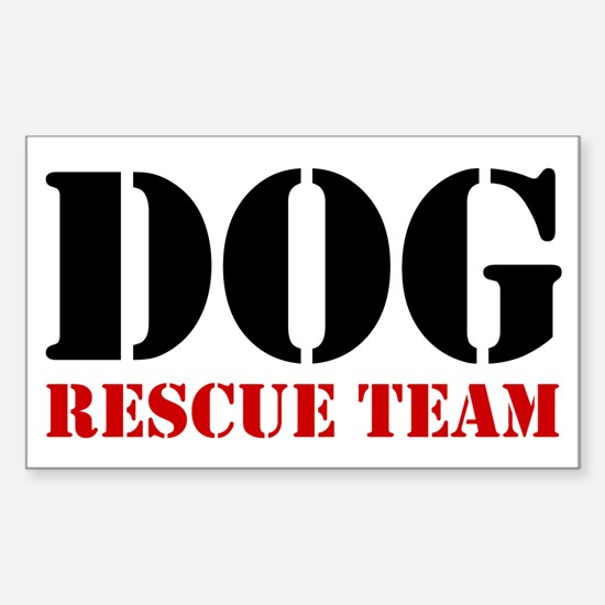 Dog Rescue Team Rectangle Decal