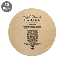 "Hamlet Quarto (1605) 3.5"" Button (10 pack)"