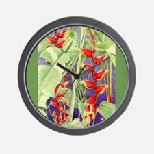 Heliconia Wall Clock