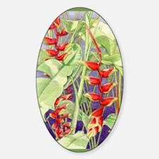 Heliconia Oval Decal