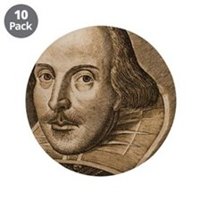 "Droeshout's Shakespeare 3.5"" Button (10 pack)"