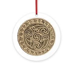 Irish Bronze Ornament (Round)
