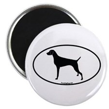 Cute Oval dog Magnet