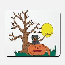 Pumpkin Rottweiler Mousepad