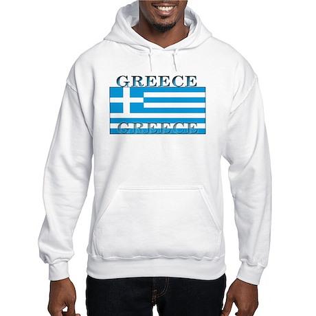 Greece Greek Flag Hooded Sweatshirt