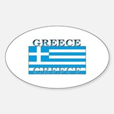 Greece Greek Flag Oval Decal
