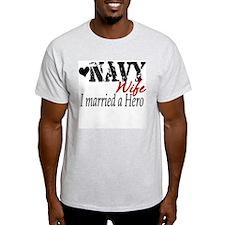 navy married hero T-Shirt