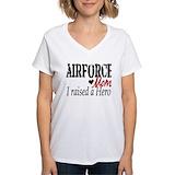 Air force mom Womens V-Neck T-shirts