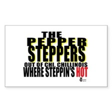 The Original Pepper Steppers Rectangle Sticker 50