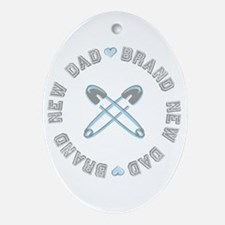 Brand New Dad Boy Oval Ornament