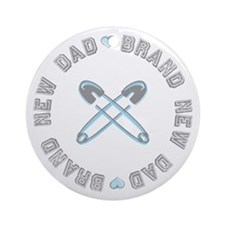 Brand New Dad Boy Ornament (Round)