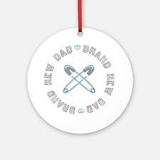 Brand New Dad Boy Ornament (Round)