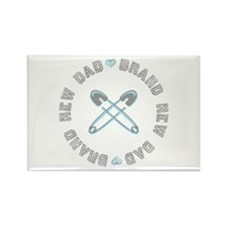 Brand New Dad Boy Rectangle Magnet
