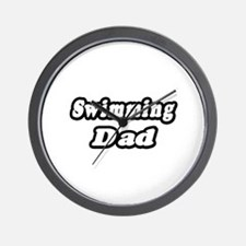 """Swimming Dad"" Wall Clock"