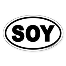 SOY Euro Oval Decal