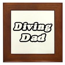 """""""Diving Dad"""" Framed Tile"""