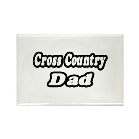 """Cross Country Dad"" Rectangle Magnet (10 pack)"