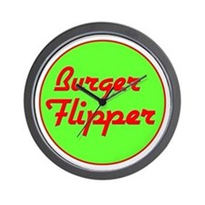 Burger Flipper Wall Clock