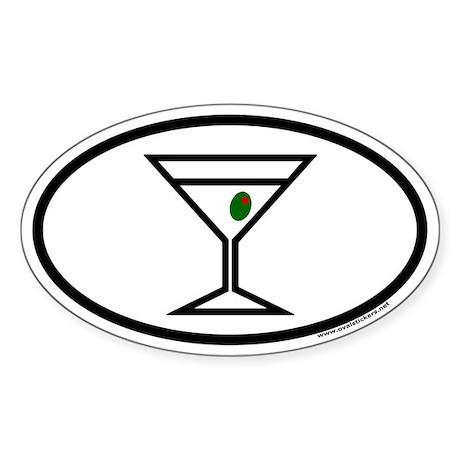 Martini Euro Oval Sticker
