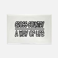 """Cross Country: Way of Life"" Rectangle Magnet (10"