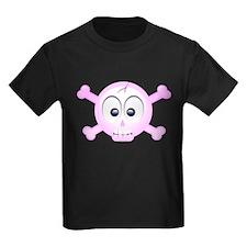 pink smiley skull T