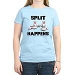 Split Happens Bowling Women's Light T-Shirt