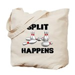 Split Happens Bowling Tote Bag