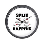 Split Happens Bowling Wall Clock