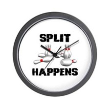 Split Happens Bowling Wall Clock