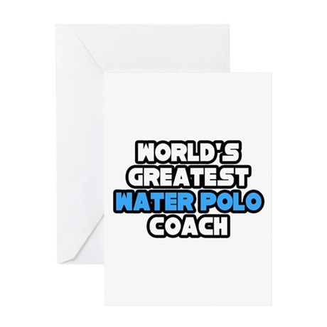 """""""Best Water Polo Coach"""" Greeting Card"""