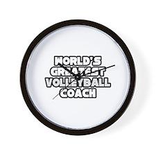 """""""Best Volleyball Coach"""" Wall Clock"""