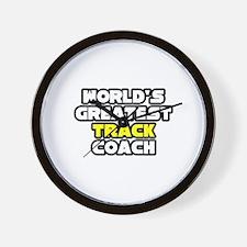 """Best Track Coach"" Wall Clock"