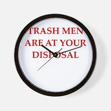 trash man joke Wall Clock