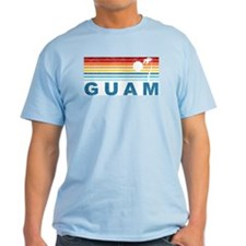 Retro Palm Tree Guam T-Shirt