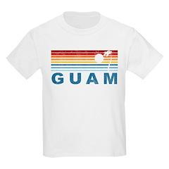 Retro Palm Tree Guam T-Shirt