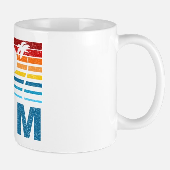 Retro Palm Tree Guam Mug