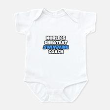 """Greatest Swimming Coach"" Infant Bodysuit"
