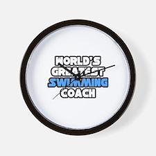 """Greatest Swimming Coach"" Wall Clock"