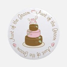 Aunt of the Groom Cake Ornament (Round)