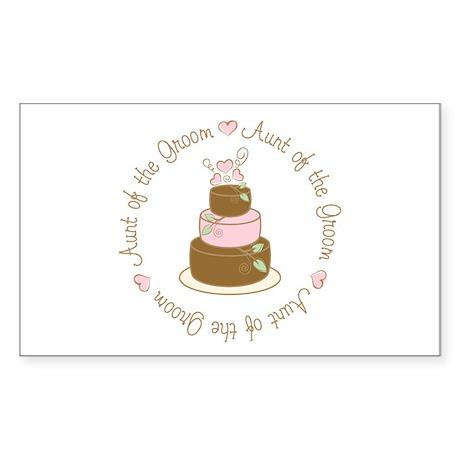 Aunt of the Groom Cake Rectangle Sticker 10 pk)