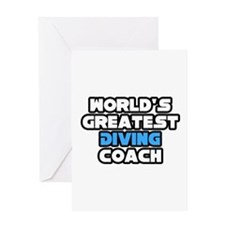 """""""Greatest Diving Coach"""" Greeting Card"""