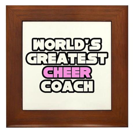 """""""Greatest Cheer Coach"""" Framed Tile"""