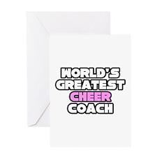 """Greatest Cheer Coach"" Greeting Card"