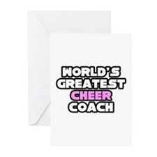 """Greatest Cheer Coach"" Greeting Cards (Pk of 10)"